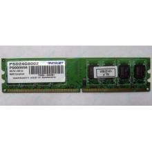 Модуль оперативной памяти 4Gb DDR2 Patriot PSD24G8002 pc-6400 (800MHz)  (Альметьевск)
