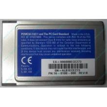 Сетевая карта 3COM Etherlink III 3C589D-TP (PCMCIA) без LAN кабеля (без хвоста) - Альметьевск
